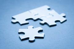 Business success team in jigsaw. Lighting in studio Stock Photo