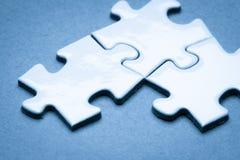 Business success team in jigsaw. SONY A7 Royalty Free Stock Photos