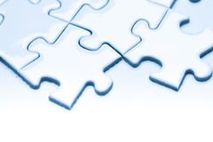 Business success team in jigsaw. SONY A7 Stock Photography