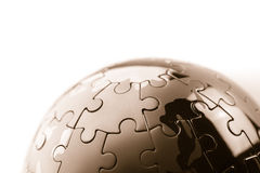 Business success team in jigsaw. SONY A7 Royalty Free Stock Photo