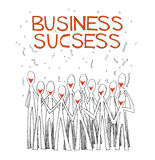 Business success team white Royalty Free Stock Photo