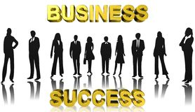 Business success,team work,3D illustration Royalty Free Stock Images