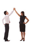 Business success and teamwork stock images