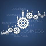 Business Success teamwork. With gears Royalty Free Stock Photo