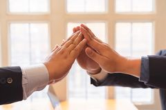 Business success teamwork together stock photography