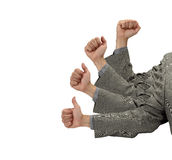 Business Success in Thumbs Up Royalty Free Stock Image