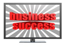 Business success on TV Stock Photo