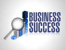 Business success under review illustration Royalty Free Stock Image