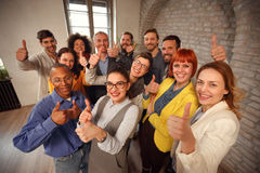 Business success and winning - thumbs up. Business success and winning concept -thumbs up stock photography