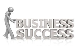Business success word with puppet Stock Image