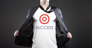 Business success, young successful businessman Stock Photo