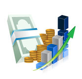 Business successful graph profits Royalty Free Stock Photos