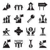 Business successful icons set Vector illustration Stock Images
