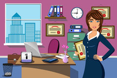 Business Successful Woman Office Prize Award Royalty Free Stock Images