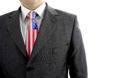 Business Suit. And a americam tie - 4th July Royalty Free Stock Photos