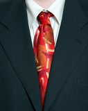 Business Suit. A close-up of a tie and suit royalty free stock photo