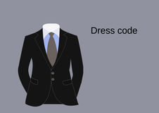 Business suit of businessman, dress code vector. Stock Images