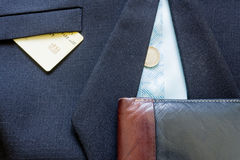 Business suit buttons Royalty Free Stock Photography