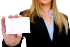 Business suit and card Stock Photo