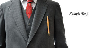 Business Suit closeup with copy space Royalty Free Stock Image