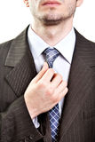Business suit detail - tie of modern businessman Stock Image