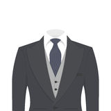 Business suit isolated on white background Royalty Free Stock Images