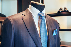 Business suit on a mannequin Stock Images