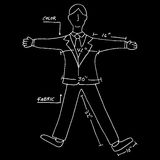 Business Suit Measurements Royalty Free Stock Photography
