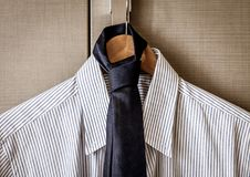 Business suit ready for travel. Italian fashion - business shirt, classical dresscode, ready for a business trip Royalty Free Stock Images