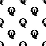 Business Suit Seamless Pattern Stock Photography