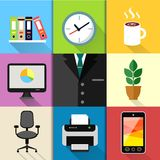Business suit set stock illustration