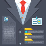 Business suit summary concept Stock Photography