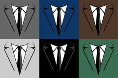 Business suit and tie collar Royalty Free Stock Photo