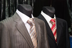 Business suit and ties on a dummy Royalty Free Stock Image