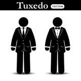 Business suit and Tuxedo suit ( stick man wear business suit and tuxedo suit ) Royalty Free Stock Photography
