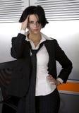 Business suit woman. Attractive brunette business woman wearing suit Stock Photos