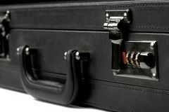 Business suitcase combination lock Stock Photo