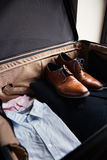 Business Suitcase Contents royalty free stock photography