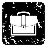 Business suitcase icon, grunge style Royalty Free Stock Images