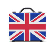 Business suitcase for travel with flag of UK Royalty Free Stock Photography