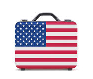 Business suitcase for travel with flag of USA Royalty Free Stock Photography