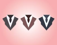 Business suites for woman. Different business suites for woman. Vector icons illustrations Stock Photography