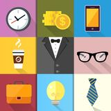 Business Suits Icons Set royalty free illustration