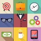 Business Suits Icons Set Royalty Free Stock Images