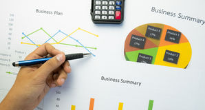 Business summary or Business plan report with Charts and graphs in Business concept Royalty Free Stock Image