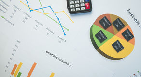 Business summary or Business plan report with Charts and graphs in Business concept Stock Images