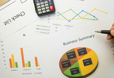 Business summary or Business plan report with Charts and graphs in Business concept Royalty Free Stock Photography