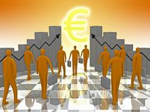 Business Sunshine Euro Stock Image