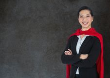 Business Superhero against stone wall Stock Photography