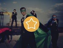 Business Superheroes Beach Achievement Concept Royalty Free Stock Photo